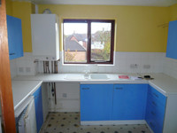 Kitchen, Fitting Process of Before - CRM Contractors