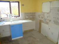 Kitchen, Fitting Process of Stage 2 - CRM Contractors